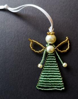 Pērļu eņģelītis - gaiši zaļš